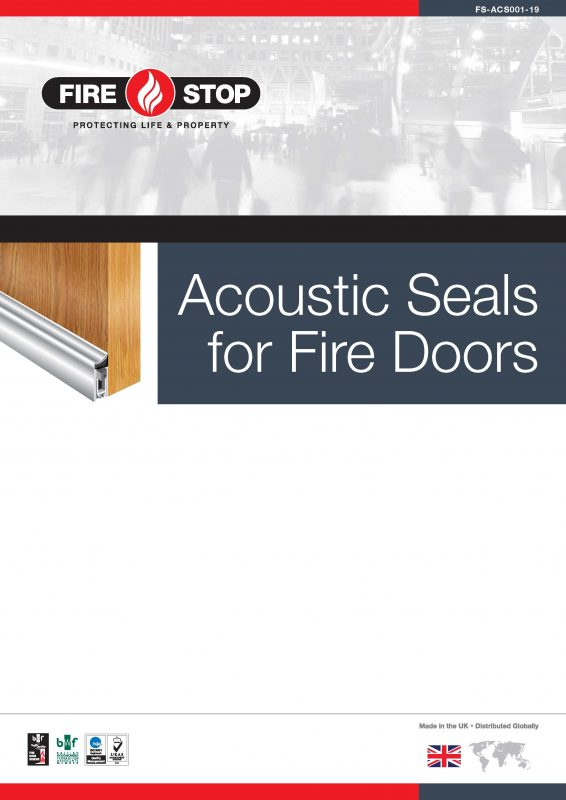 Firestop acoustic seals brochure front cover