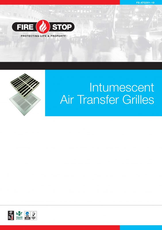 Firestop Intumescent Air Transfer Grilles brochure front page