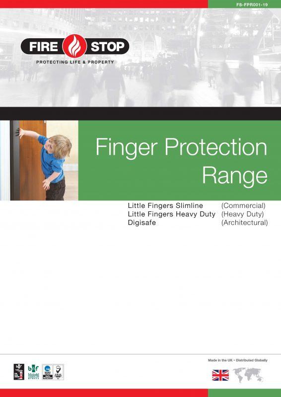 Firestop finger protection range brochure front page