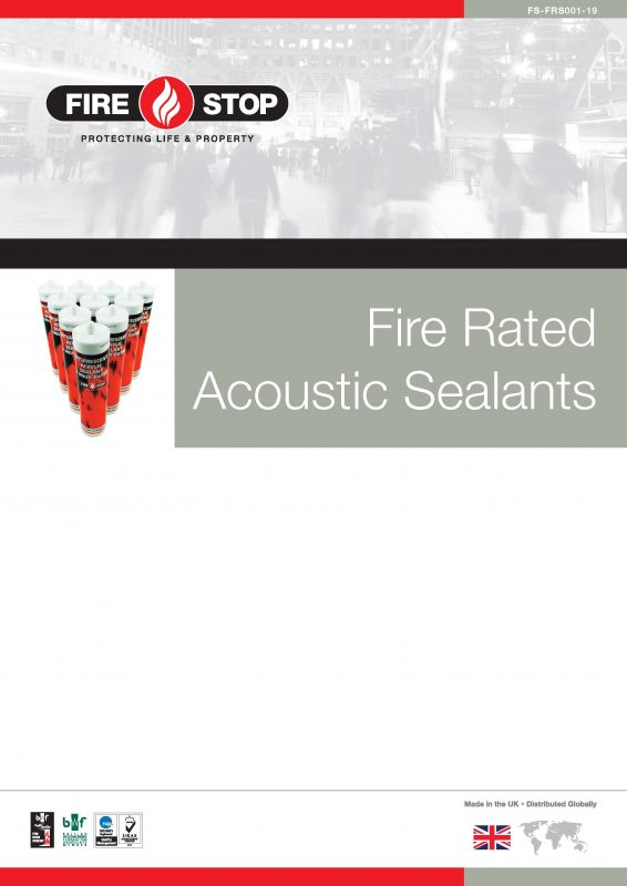 Firestop fire rated acoustic sealants brochure front page