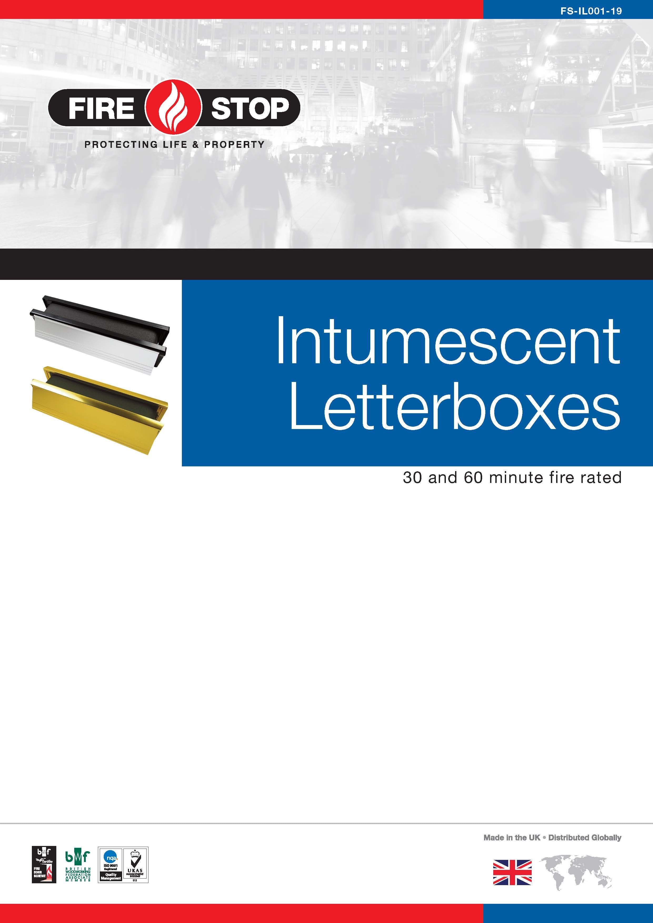 Firestop Intumescent Letterboxes brochure front page