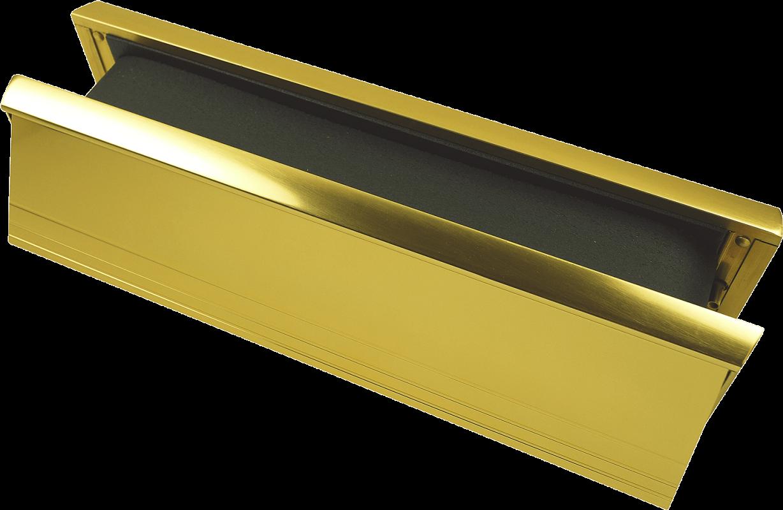 Firestop brass letterbox