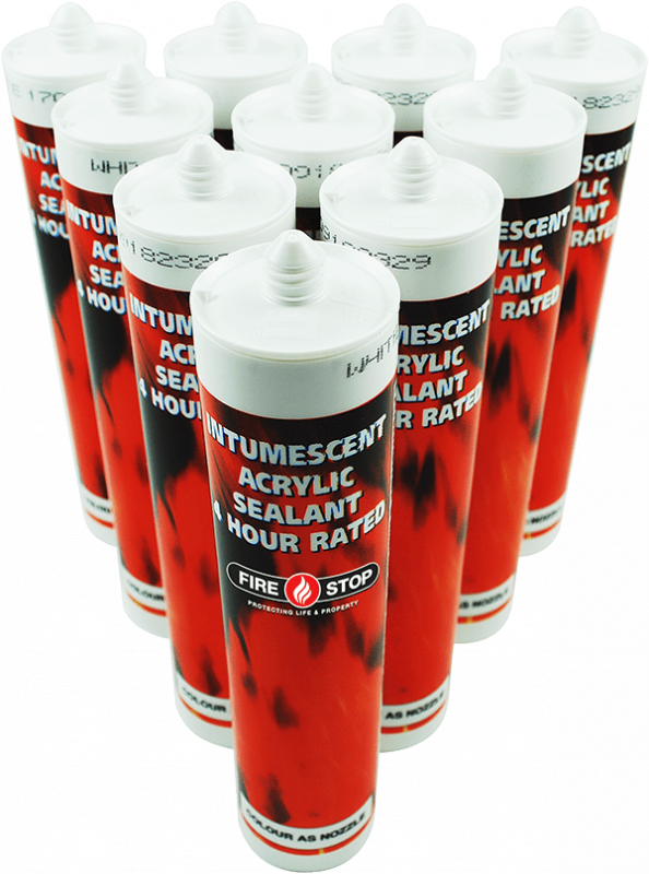 Group of Firestop sealant tubes